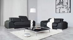Bronte Leather Sofa Suite 3 + 2 - Lounge Life