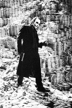 Heath Ledger as the Joker, The Dark Night, 2008