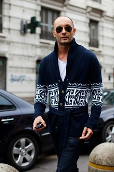 Milan Vukmirovic. I have a weakness for men who can imbibe individual style without losing masculinity.