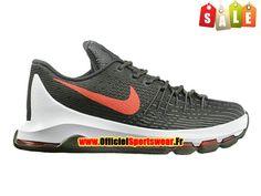 ce16a015933f Nike KD 8 VIII Chaussure de Nike Basket-ball Pas Cher Pour Homme  Olive Blanc Rouge 768867-A005