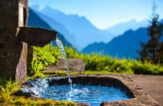 La Source, Importance Of Water, Structured Water, Mountain Background, Mother Teach, Fountain Of Youth, Water Sources, Deep Relaxation, Spring Water