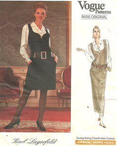 Vogue 2406 / Paris Original / Vintage Designer Sewing Pattern By Karl Lagerfeld…