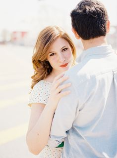 Photography: Ahmet Ze - ahmetze.com  Read More: http://www.stylemepretty.com/2014/07/03/summertime-engagement-shoot-at-coney-island/