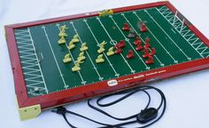 Tudor electric model 500 vintage   football game. It was my brother's game, but I played with it just because it was fun to watch the plastic players move around.