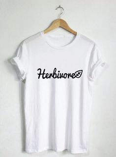 HERBIVORE tee! ********************************************************************************* Available in black, white, maroon, or sport grey