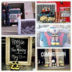 25 Ideas baby announcement ideas newborn for 2019 Firefighter Pregnancy Announcement, Firefighter Baby, Baby Announcement Pictures, Its A Girl Announcement, Baby Announcements, Fireman Baby Showers, Baby Boy Shower, New Baby Girls, Baby Kids