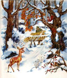 Christmas Deer, Winter Christmas, Vintage Christmas, Winter Magic, Preschool Christmas, In Kindergarten, Four Seasons, Mammals, Storytelling