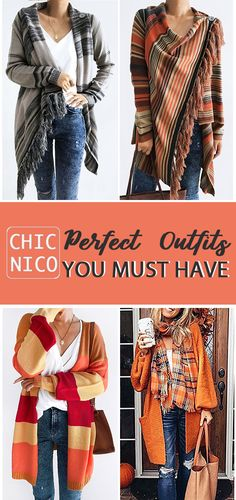 perfect outfits you must have women fashion outfits fall 2018 cardigans - Casual Outfits Fall Fashion Outfits, Hot Outfits, Fall Winter Outfits, Autumn Winter Fashion, Casual Outfits, Womens Fashion, Fashion Trends, Casual Clothes, Vogue