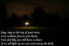 Scare Away the Dark (Passenger)