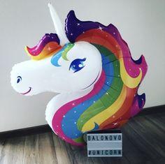 Foil balloon - Unicorn head