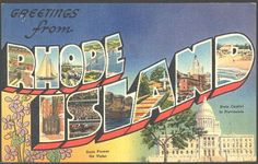 Greetings from Rhode Island Postcard (c.1940) by E.C. Kropp Co. for King News Agency