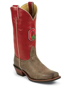 Nocona Men's Ohio State University College Cowboy Boots - Square Toe