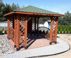 ALTANA DREWNIANA EWA - zdjęcie od klienta Backyard Gazebo, Thing 1, Shed, Outdoor Structures, Garden, Patio Ideas, Courtyards, Houses, Garten