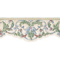 Scroll Wallpaper Border, Multicolor