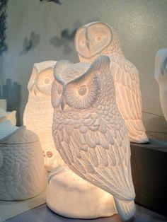 {Armoire de Fer owl Ceramic Lamp}