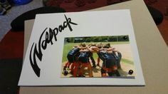 Softball frame with brads-wolfpack 8×10 canvas space for 4x6 picture