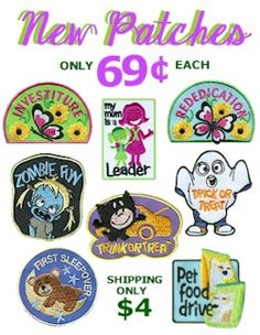 Embroidered Girl Scout Patches