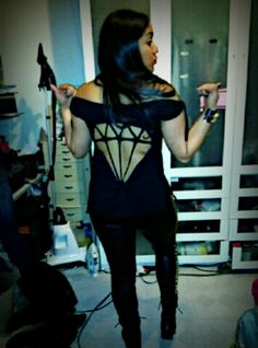 DIY Diamond cut-out t-shirt I made for my cousin!