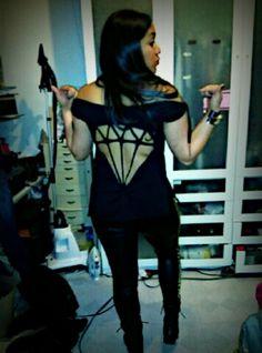 DIY Diamond cut-out t-shirt I made for my cousin! #diy #diamond #cutout