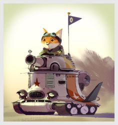 cat in tank - by Mike Yamada - a visual development artist currently working at Walt Disney Animation Studios. Mike has worked on animated films such as The Croods, Puss in Boots, Kung Fu Panda How to Train your Dragon and Monsters vs Aliens. Cat Character, Character Design References, Character Concept, Monsters Vs Aliens, Concept Art World, Walt Disney Animation Studios, Prop Design, 3d Max, How Train Your Dragon