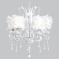 girls bedroom chandelier with white feathers shades bedroom chandelier lighting