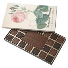 Vintage Rose 80th Birthday Celebration Chocolate B - you deserve it! Tap/click for yours!