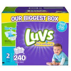 Luvs Size Chart