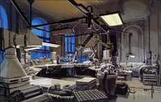 blorgblorgblorg:  Syd Mead concept art from the Blade Runner 30th Anniversary blu-ray still gallery, part two: interiors