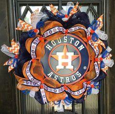 Houston Astros Baseball Wreath