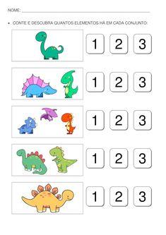 Shapes Worksheet Kindergarten, Kindergarten Coloring Pages, Printable Preschool Worksheets, Worksheets For Kids, Dinosaurs Preschool, Preschool Writing, Numbers Preschool, Numbers For Kids, Toddler Learning Activities