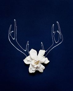 Holiday Antlers No. 4184 by kariherer on Etsy