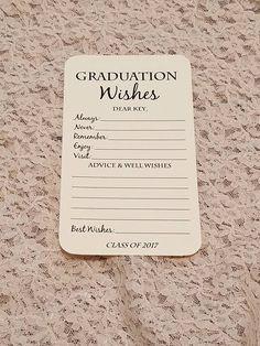 15 best lista de deseos images on pinterest birthday wishlist conjunto de 12 graduacin deseos consejos tarjetas para fiesta fandeluxe Image collections