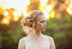 Love the double braid, side bun.    Melinda Pike Photography - Hawaii Lifestyle and Commercial Photographer