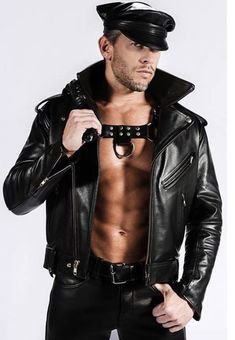 Mens Leather Pants, Biker Leather, Leather Jackets, Hombres Gay Sexy, Men Tumblr, Sexy Gay Men, Hunks Men, Leder Outfits, Men In Uniform