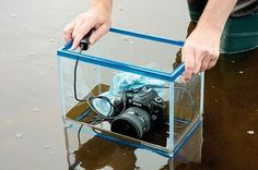 DIY Photography Hacks: use a fish tank as an underwater housing for your camera #underwatercameras