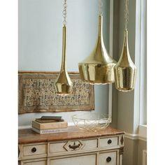Moroccan Industrial Anthropologie Replica Gold Brass Ceiling Pendant Chandelier