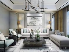 Modern Chinese Sofa Designs Ideas - If you are looking to improve the décor of your home, you might want to consider decorating with Chinese antique furniture and accessories. Living Room Modern, Living Room Interior, Living Room Designs, Living Room Decor, Modern Sofa, Luxury Interior, Interior Design, Luxury Sofa, Chinese Interior