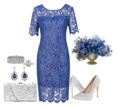 """Blue Lace"" by penelopepoppins ❤ liked on Polyvore featuring Lauren Lorraine, Mark Broumand and Palm Beach Jewelry"