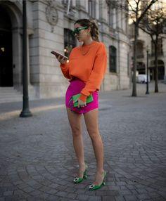 "🌸 ZARA OUTFITS 🌸 on Instagram: ""@marianamachado____ 🌸💕 #zara #zaraoutfits #outfits"" Mode Outfits, Chic Outfits, Summer Outfits, Fashion Outfits, Color Blocking Outfits, Colourful Outfits, Colorful Fashion, Moda Zara, Estilo Blogger"