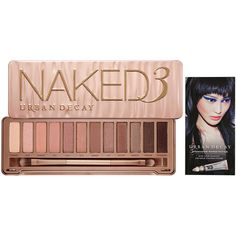 Urban Decay Naked3 (465 NOK) ❤ liked on Polyvore featuring beauty products, makeup, eye makeup, eyeshadow, beauty, urban decay, cosmetics, urban decay eyeshadow, palette eyeshadow and pencil eyeliner