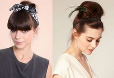 Bun updo hairstyles decorated with hair accessories :: one1lady.com :: #hair #hairs #hairstyle #hairstyles