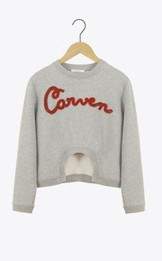 come to me, beautiful Carven Sweat Shirt, Tee Shirts, Kenzo, Fleece Sweater, Winter Looks, Winter Style, Carven, Autumn Winter Fashion, Fashion Fall