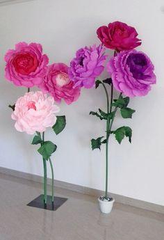 Большие ростовые цветы Фотозоны