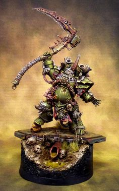 CoolMiniOrNot - Warhammer Typhus - Herald of the Plague God Warhammer Figures, Warhammer Paint, Warhammer 40k Art, Warhammer Models, Warhammer 40k Miniatures, Warhammer Fantasy, Warhammer Tabletop, Warhammer Terrain, Space Marine Dreadnought