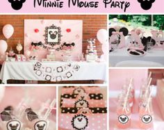 Paquete de fiesta de cumpleaños Minnie Mouse por CupcakeExpress2