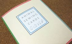 animal sewing cards from Just Something I Made