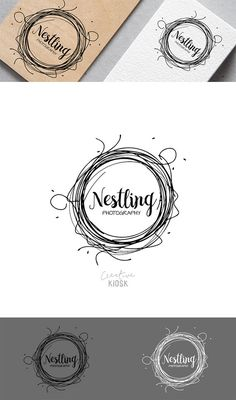 Nest Logo. Instant Download Logo. Premade Logo Design. DIY Watermark. Business Logo Template. Scalable PSD Photoshop File. #0325.