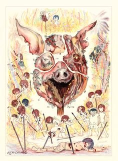 the death as a symbol of transition in lord of the flies a novel by william golding Lord of the flies is written by famous contemporary novelists william golding   since its publication in 1954, the novel has become the best sellers and has  been  reminds ralph of their serious situation by using three words of death in .