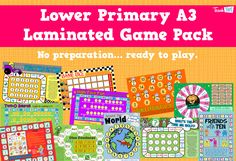 Lower Primary A3 Laminated Game Pack