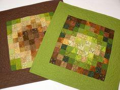 cOto.patchwork: Kwadracikowe poduszki